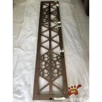 酒店镜面点焊玫瑰金不锈钢屏风 叠层边框设计 出货快