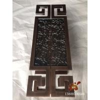 中式祥云造型铝板浮雕红古铜大门拉手仪式感
