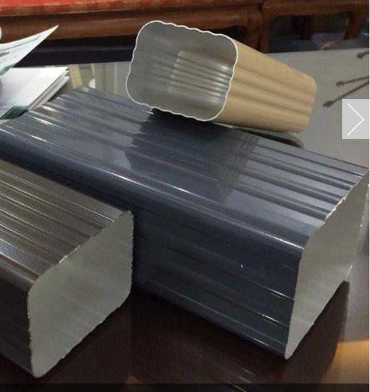 上海成品天沟 彩铝檐槽 金属雨水管 铝合金落水系统