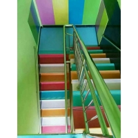 直销楼梯缓步台专用pvc地胶板 幼儿园学校楼梯踏步