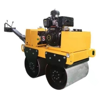 力斯特手扶單輪壓路機 小型壓路機 鋼輪振動壓土機