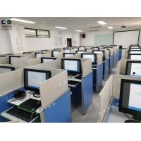 升降屏风考试桌 语音教室口语机考电脑桌 电教室电脑桌