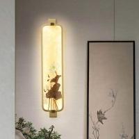顾家照明新中式壁灯  材质 铜 加珐琅彩