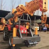拖拉機改裝吊車打樁機 農用拖拉機四驅越野吊車