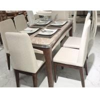大理石餐桌长方形家用轻奢餐桌椅组合现代简约饭桌