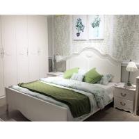 简约现代主卧实木床1.8米单人双人床