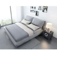 北欧布床简约主卧现代大气布艺床1.8米双人床小户型布艺床