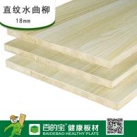 百的寶板材 杉木芯E級18mm環保生態板家具衣柜板材 直紋水