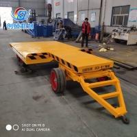 前高后低平板拖车 牵引式平板拖车 重型工具车
