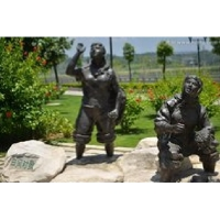 凉亭铜浮雕 铜雕塑搭配