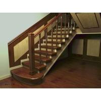 弗劳思丹全屋定制楼梯扶手中式轻奢欧式实木红橡木别墅整体定制