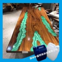 环氧树脂胶河流桌专用胶 适合木制工艺品、艺术品灌注材料AB胶