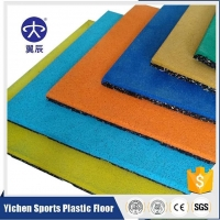 健身房橡膠地板廠家批發翼辰地板EPDM面層橡膠地墊