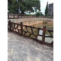 广西 南宁 仿石护栏、仿藤护栏、铸造石护栏、仿木护岸桩定做