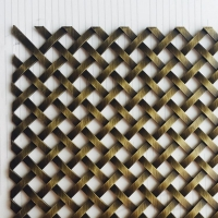 硕隆正方斜方孔吊顶帘金属网格 方格菱形隔断金属网