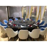 酒店餐桌椅 实木餐桌椅 红木雕花电动餐桌