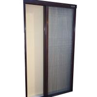折叠纱门窗隐形风琴式折叠纱窗纱门防蚊防尘铝合金有轨道推拉式