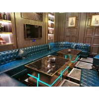 广州KTV茶几轻奢发光不锈钢茶几创意KTV酒吧会所夜场