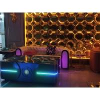 欧式奢华蓝宝石酒吧KTV发光茶几 不锈钢整装方形台桌定制