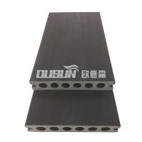 深圳欧意森共挤塑木地板140*25圆孔地板