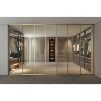南京极窄边框玻璃移门香槟色-中空门厂家-泰欧门窗