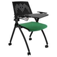 鼎优大学高校带写字板培训桌椅 折叠会议椅子网布办公椅