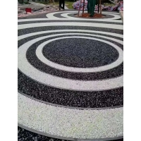 公园用聚氨酯彩石(胶粘石)材料深圳路安