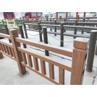 仿木栏杆施工步骤详解,周口池塘水泥围栏实拍效果图