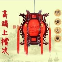 中式宫灯仿古灯笼古典木艺吊灯