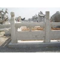 大理石欄板 石材河堤欄桿 河道草白玉欄桿 批發定制