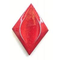 棱形红釉窑变立体手工砖