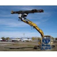 采用挖掘机改装钻机厂家挖机提供动力打孔高效安全