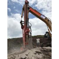 挖掘機加裝潛孔錘加裝沖擊鉆機大笨象YF20挖機改鉆