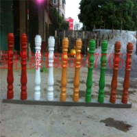 水泥艺术栏杆漆孔雀蓝色