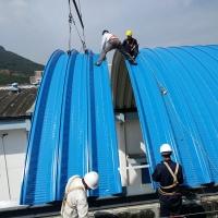 610型拱形钢屋面板 菜场市场厂房库房车间低造价屋盖板金属屋