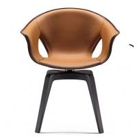 2019玻璃钢真皮休闲椅,设计师原版 椅子