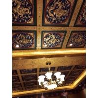 古建彩绘吊顶寺庙宗祠天花板佛堂金属斗拱八角雕花藻井