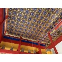 寺庙装修材料 大雄宝殿彩绘吊顶  铝合金集成浮雕天花