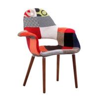 标典家具沙发椅休闲豪华餐厅椅子与实木腿