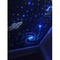 發光滿天星空模塊定制兒童房影院星空吊頂石膏板光纖星空噴繪