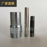 热镀锌焊缝钢管外丝,美标钢管接头,双丝,立杆