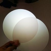 单双面磨砂扩散板 pc乳白色匀光板 灯具面板 超薄0.5mm