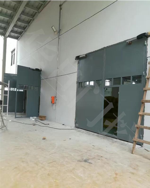 02J611-1防風沙鋼大門,水廠平開鋼大門