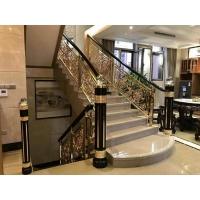 定制新款铜铝楼梯雕花护栏 精致新型雕刻护栏 楼梯扶手