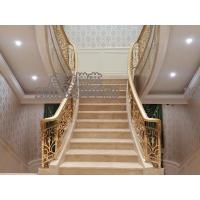 轻奢楼梯单支扶手新中式铝合金楼梯护栏全屋定制