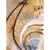 定制铜艺扶手铜楼梯欧式别墅铜铝雕花楼梯扶手轻奢楼梯柱