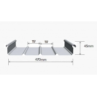 0.9mm宣城铝镁锰板YX65-430