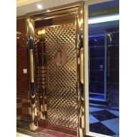 不锈钢模压板门玫瑰金适用于ktv酒店酒吧录音棚电影院