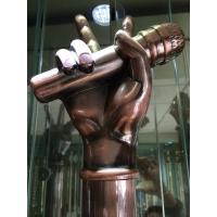玫瑰金不锈钢异形拉手不锈钢单管拉手 弧形不锈钢拉手
