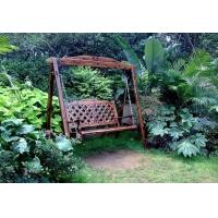 汇东木业碳化防腐实木秋千 户外摇椅 阳台吊椅 双人椅